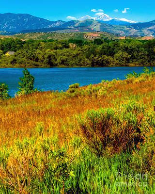 Photograph - Longs Peak View From Boedecker Reservoir by Harry Strharsky