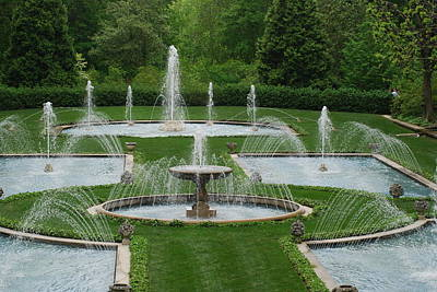 Photograph - Longwood Fountains 3 by Richard Bryce and Family