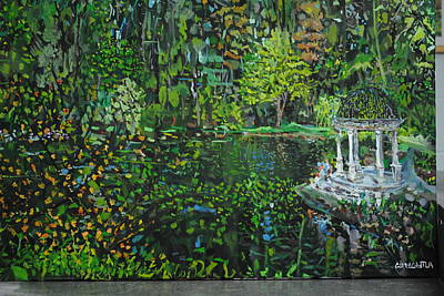Longwood Gardens Painting - Longwood Gardens by Cory Chytla