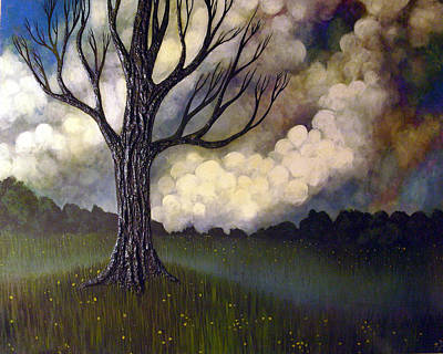 Art Print featuring the painting Lonsome Tree 0001 by Monica Furlow