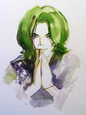 Michael Jackson Painting - Look At Me by Hitomi Osanai