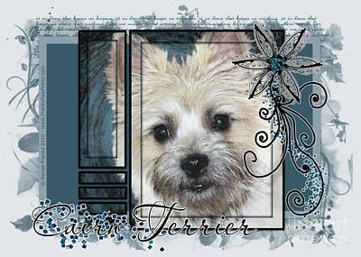Look In Her Eyes - Cairn Terrier Art Print by Renae Laughner