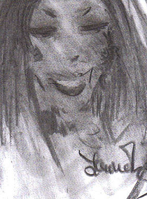Drawing - Look Of Love by Laurie L