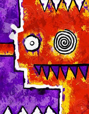 Teeth Drawing - Zeeko - Red And Purple by Roly Orihuela