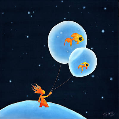 Baloon Painting - Look-out by Enialis Best Silk