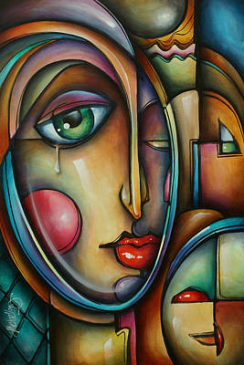 Crying Painting - Look Two by Michael Lang