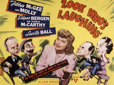 Look Whos Laughing, Edgar Bergen Art Print by Everett