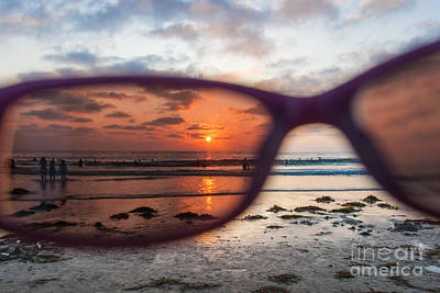 Looking At Life Through Rose Colored Glasses Art Print