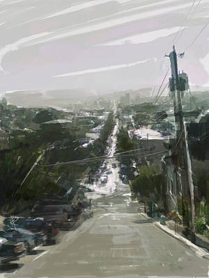 Looking Down Dolores Art Print by Russell Pierce