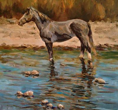 Painting - Looking Down Stream by Karen McLain