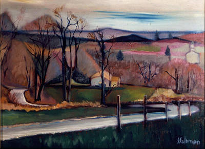 Painting - Looking Down The Hill by Sid Solomon