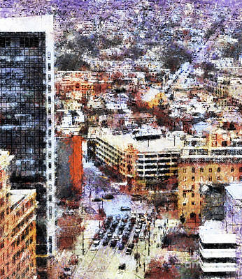 Looking East In Baltimore Art Print by Susan Isakson