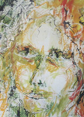 Figurative Painting - Looking Forward by Sandy Tracey