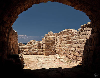 Photograph - Looking Out From The Temple Of Mithras by Endre Balogh