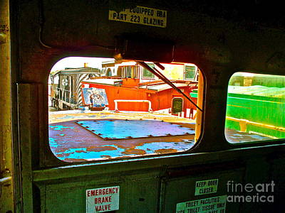 Looking Out The Engine Cab Art Print