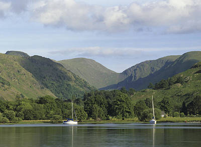 Looking South Across Lake Ullswater From Glenridding, Lake District, Cumbria, England Art Print by Keith Wood