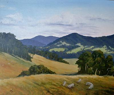 Looking South From Foxground Art Print