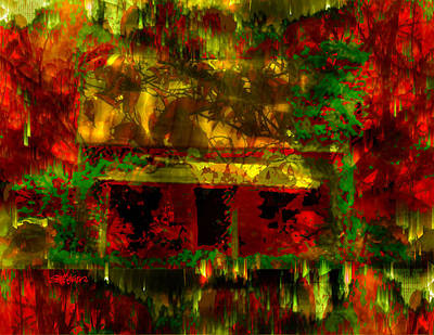 Sethweaver Digital Art - Looking Through Leaves by Seth Weaver