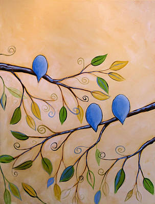 Bluebird Painting - Looking To Spring by Amy Giacomelli
