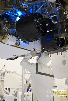 Looking Under The Hood Of Rover Art Print by NASA/Glenn Benson