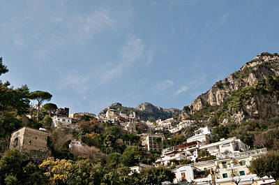 Y120907 Photograph - Looking Up At Positano by Driendl Group