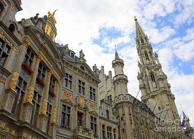 The Grand Place Photograph - Looking Up At The Grand Place by Carol Groenen