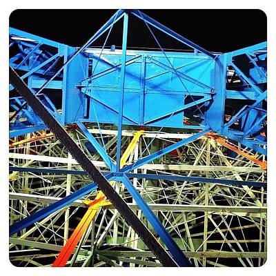 Abstract Wall Art - Photograph - Looking Up At The Wonder Wheel by Natasha Marco