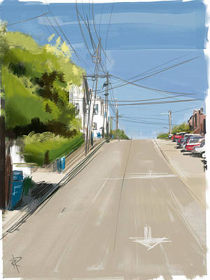 Looking Up Dolores Street Print by Russell Pierce
