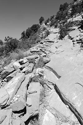 Photograph - Looking Up The Hermit's Rest Trail Bw by Julie Niemela