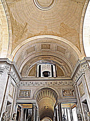 Art Print featuring the photograph Looking Up. Vatican. Brown by Tanya  Searcy