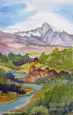 Painting - Looking West Hot Creek by Pat Crowther