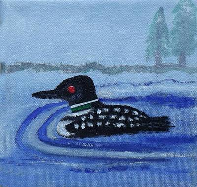 Loon On Lake Winnipeaukee Art Print by Margaret Harmon