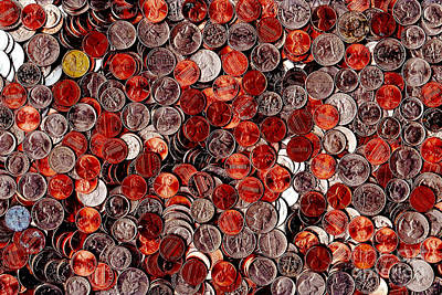 Photograph - Loose Change . 8 To 12 Proportion by Wingsdomain Art and Photography