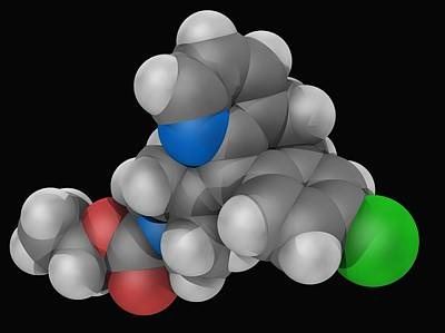 Healthcare And Medicine Digital Art - Loratadine Drug Molecule by Laguna Design