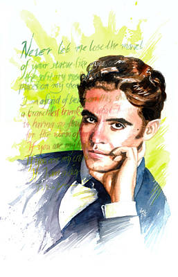 Spaniards Painting - Lorca by Ken Meyer jr
