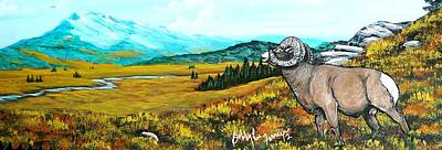 Lord Over The Mountains Art Print by Bobbylee Farrier