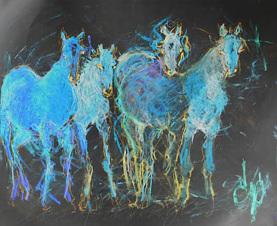 Painting - Los 4 Amigos 2 by Elizabeth Parashis