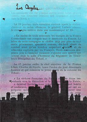 Los Angeles City Skyline Art Print by Jera Sky