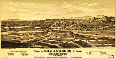 Los Angeles From The East Art Print by Pg Reproductions