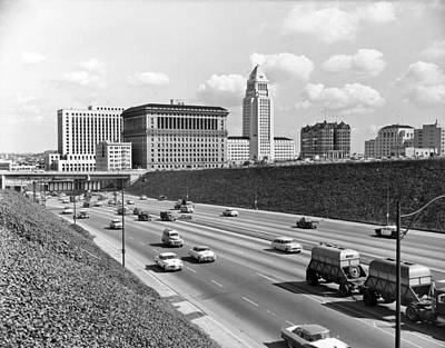 Los Angeles In The 1950s Art Print by Underwood Archives