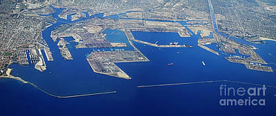 Photograph - Los Angeles Seaport Panorama by Danuta Bennett