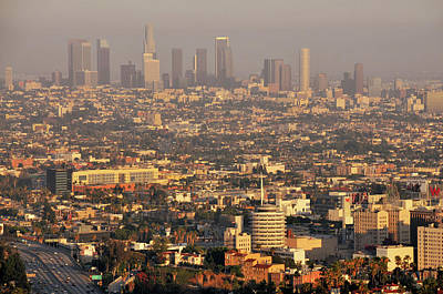 Los Angeles Skyline Art Print by Photo by Seattle Dredge