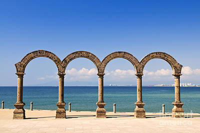 Stone Buildings Photograph - Los Arcos Amphitheater In Puerto Vallarta by Elena Elisseeva