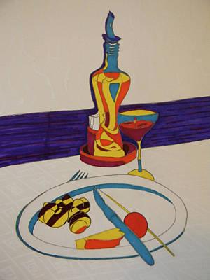 Lebanon Art Drawing - Los Caracoles by Marwan George Khoury