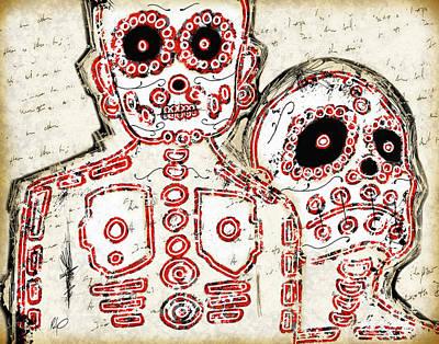 Tribe Drawing - Los Muertos by Roly Orihuela