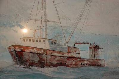 Lost At Sea Print by Jim Cook