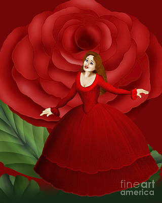 Digital Art - Lost In The Rose Garden by Pauline Moore