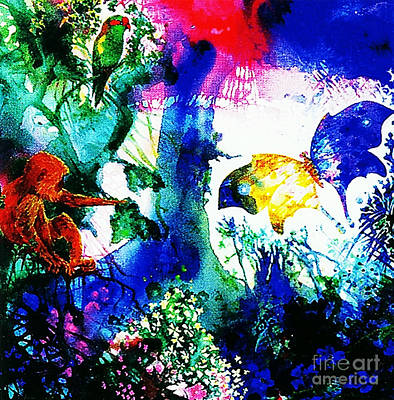 Art Print featuring the mixed media Lost Paradise by Hartmut Jager
