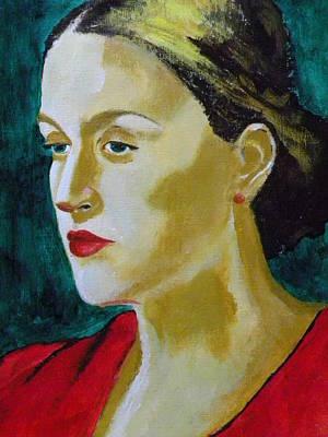 Acrylic Portrait Painting - Lost by Shirish Sharma
