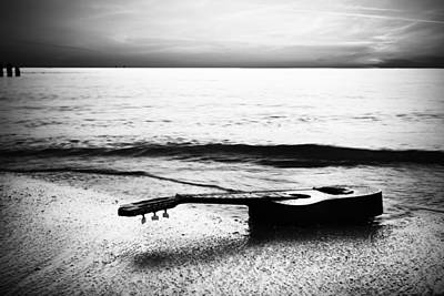 Manatee Co Photograph - Lost Tune - Bw by Nicholas Evans